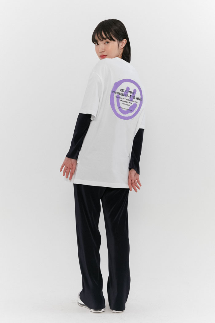 [6/9 예약발송]LOGO&SMILEY TEE[PURPLE]