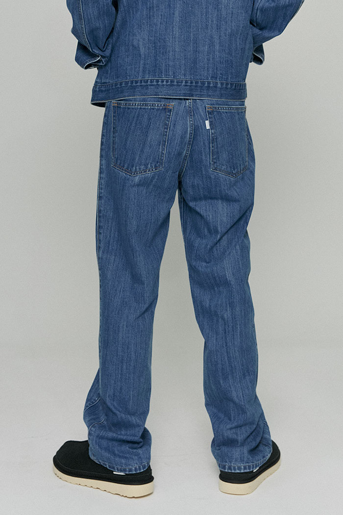 UTILITY SLUB DENIM PANTS[BLUE]