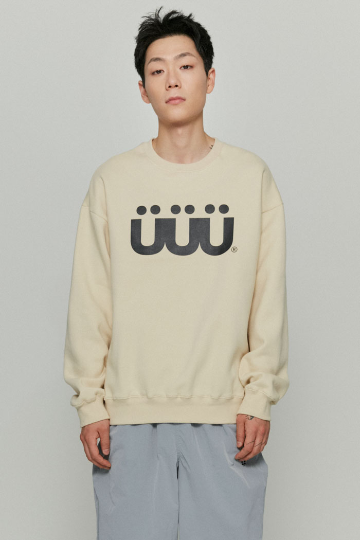 UUU SWEATSHIRTS[CREAM]