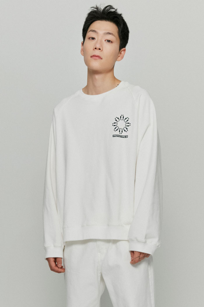 MECHANIC SWEATSHIRTS[WHITE]