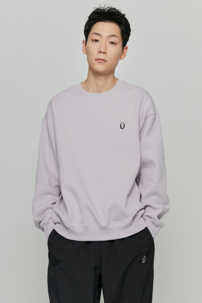 U LOGO SWEATSHIRTS[PURPLE]
