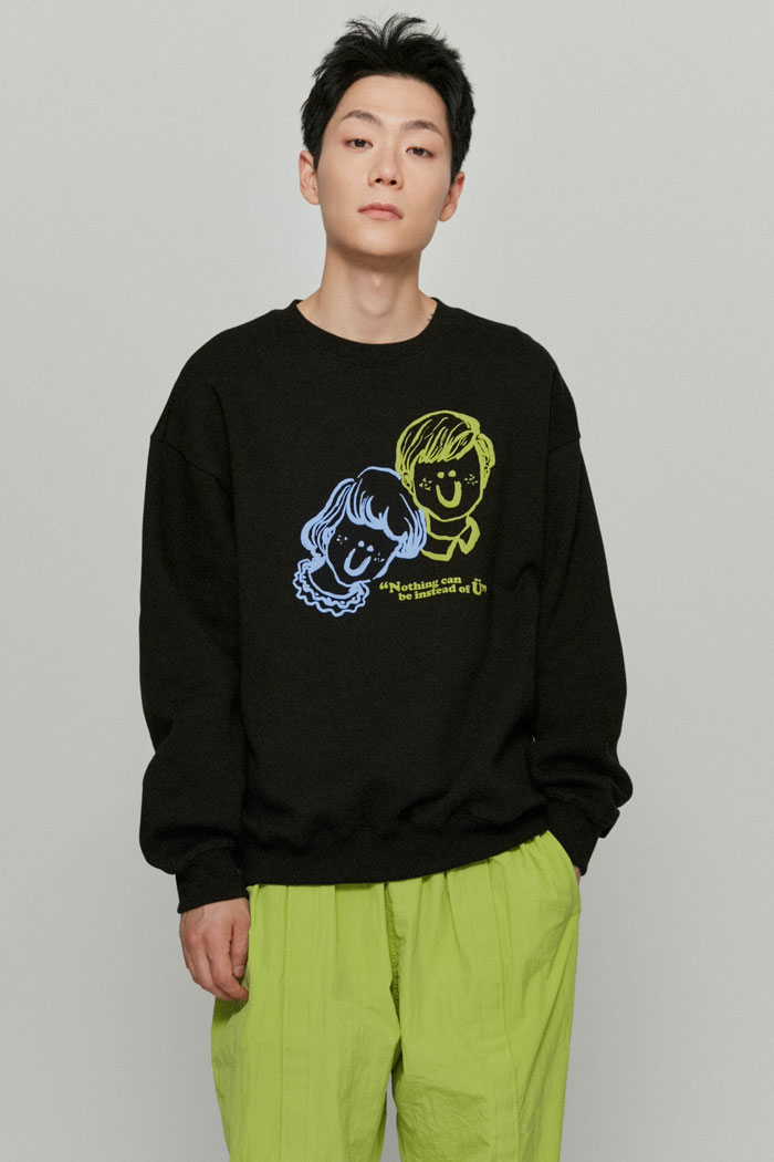 BOY&GIRL SWEATSHIRTS[BLACK]