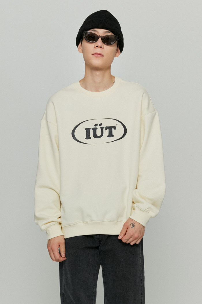 OVAL LOGO SWEATSHIRTS[CREAM]