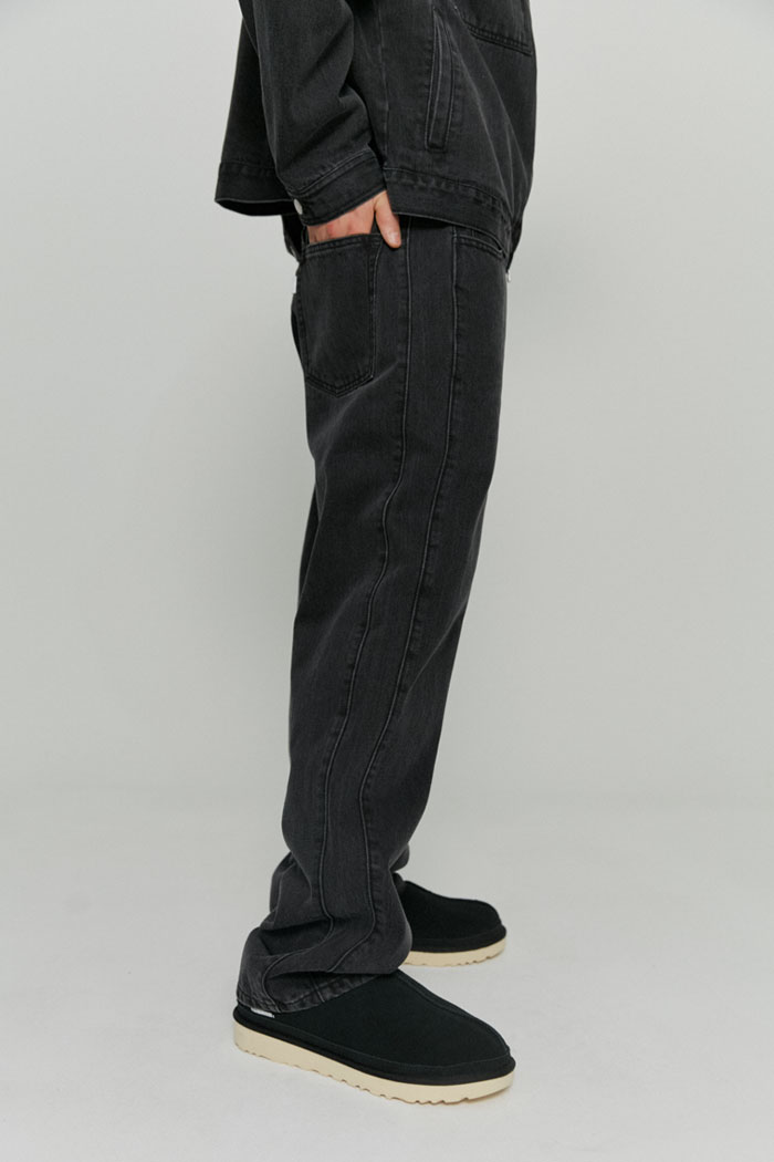 UTILITY SLUB DENIM PANTS[GREY]