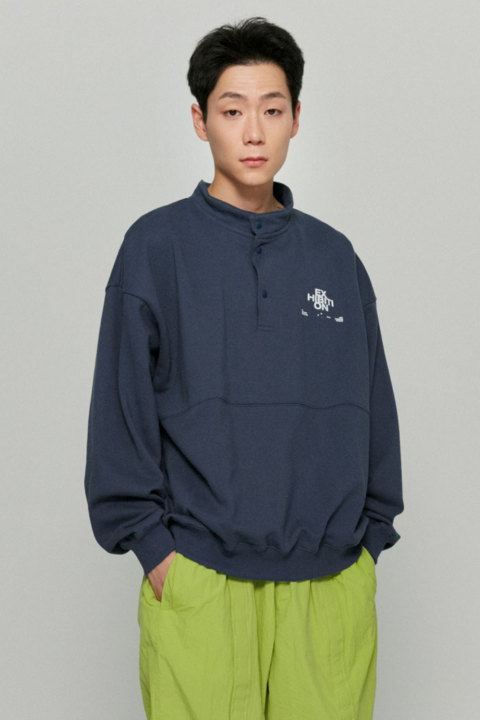 EXHIBITION PULLOVER SWEATSHIRTS[BLUE]