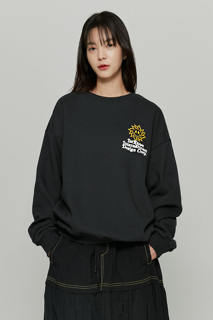 SUNSMILE SWEATSHIRTS[CHARCOAL]