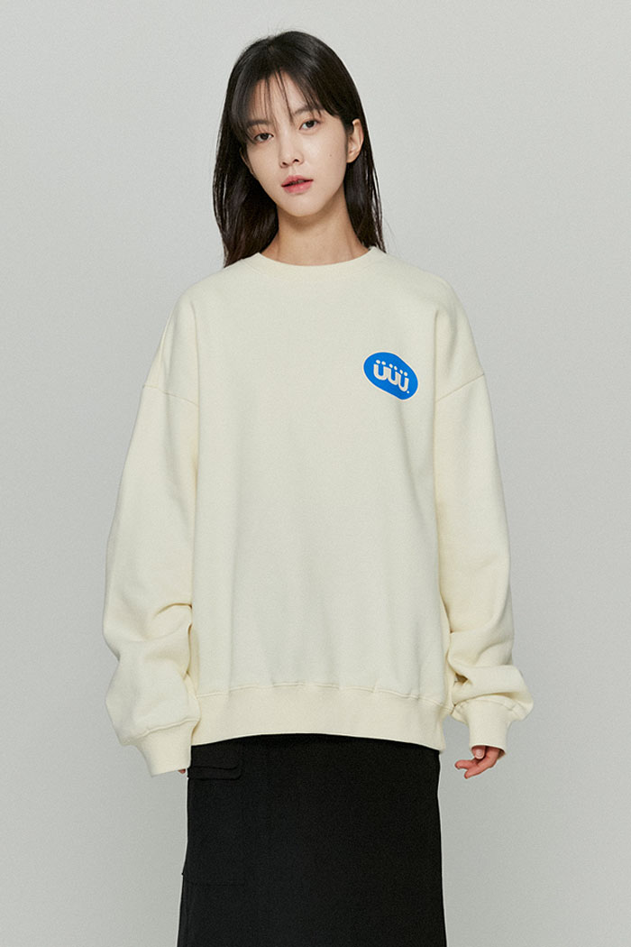PILL LOGO SWEATSHIRTS[CREAM]