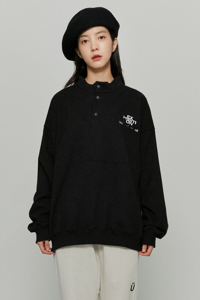 EXHIBITION PULLOVER SWEATSHIRTS[BLACK]