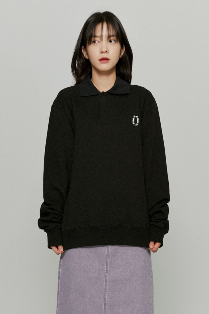 POLO SWEATSHIRTS[BLACK]