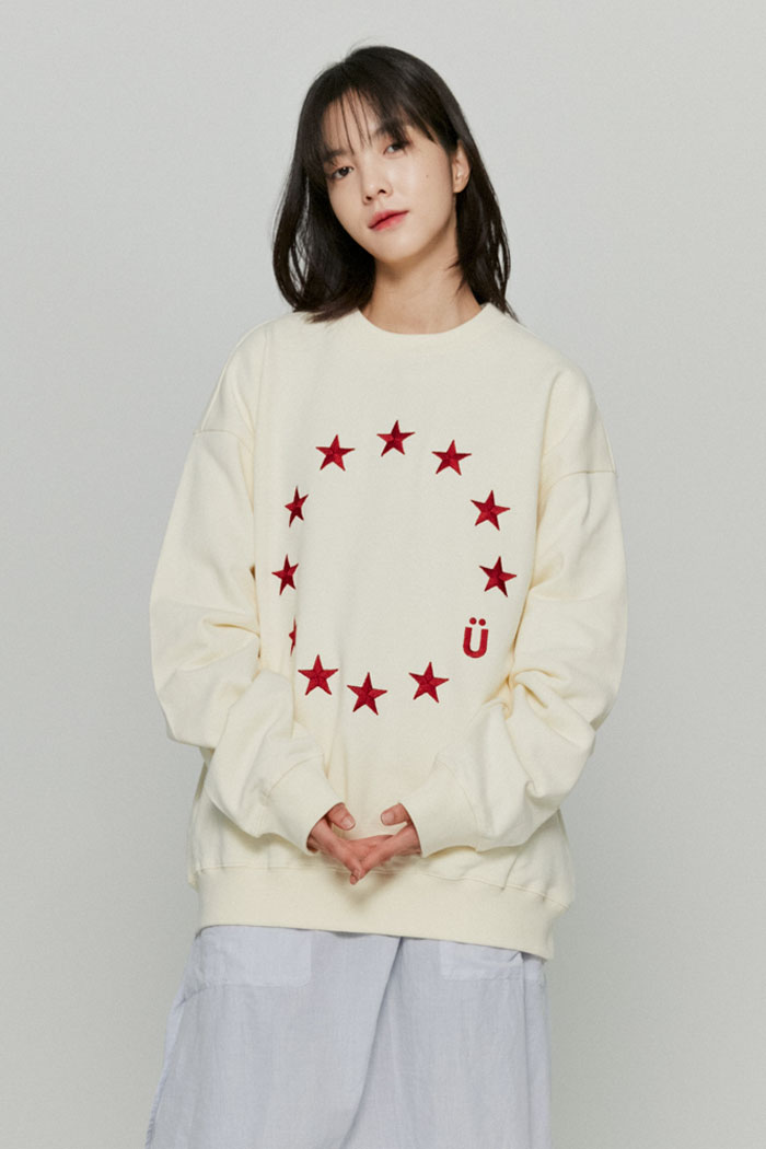 EU LOGO SWEATSHIRTS[CREAM]