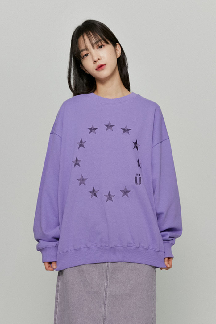 EU LOGO SWEATSHIRTS[PURPLE]