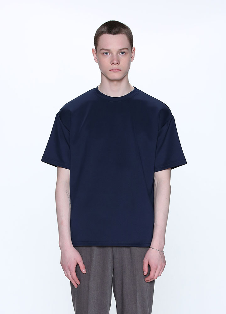 [STANDARD]HEAVY COOLON OVERSIZED TSHIRT[NAVY]