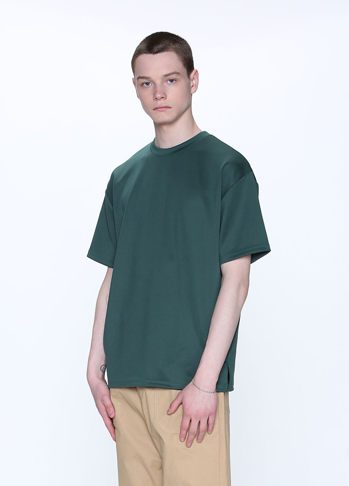 [STANDARD]HEAVY COOLON OVERSIZED TSHIRT[DEEP GREEN]