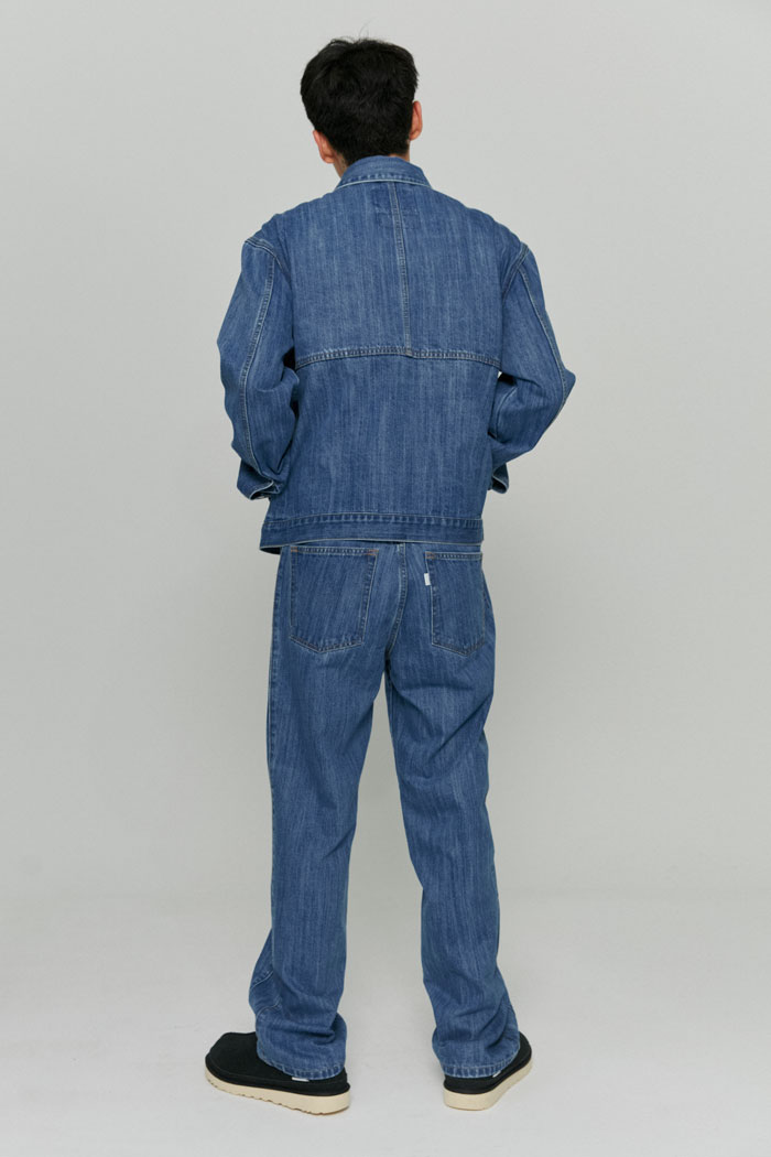 UTILITY SLUB DENIM JACKET[BLUE]